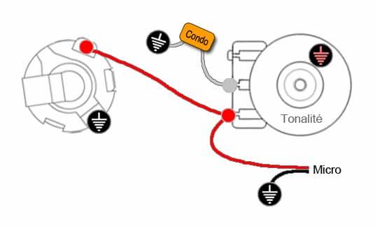 Câblage 1 micro & 1 tonalité