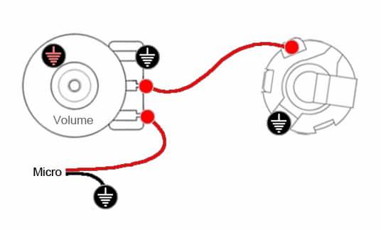Câblage 1 micro & 1 Volume