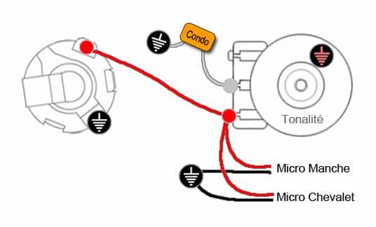Câblage 2 micros & 1 tonalité