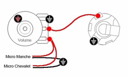 Câblage 2 micros & 1 Volume