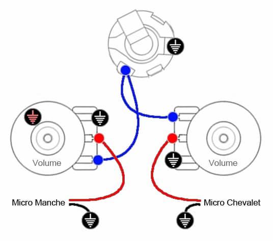 Câblage 2 micros & 2 Volumes indépendants