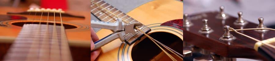 Bien monter ses cordes et entretenir sa guitare folk