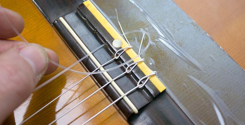 debut du noeud corde nylon classique